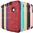 Crystal Diamond Bling Hybrid Rubber Shockproof Case Cover For iPhone 6 6s Plus