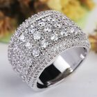 White Silver Color Big Rings For Women And Men Imitate Diamonds Engagement Ring