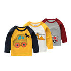 Baby Unisex Long Sleeve Cotton T-Shirt Kids Autumn Warm Cartoon Sweater Tops