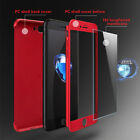 Full Body Coverage Phone PC Cases for I phone X 8 8plus 7 7plus + Tempered Glass