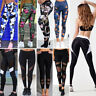 Women's Yoga High Waist Pants Leggings Capri Sports Fitness Trousers Plus Size O