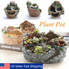 Creative Flower Planter Garden Herb Succulent Plant Resin Pot Box Container NEW