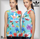 Adidas Junior Girls Floral Tank Vest T-Shirt 6-7-8-9-10-11-12-13-14-15 Years