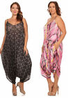 WOMENS PLUS SIZE YELLOW PINK BLACK GRAY HAREM SLOUCHY ROMPER JUMPSUIT 1X 2X 3X