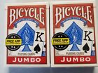 Bicycle Playng Cards 2 x Sealed Standard Size Jumbo Faced Packs