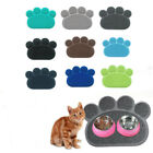 11 Color Paw Shape Dog Cat Litter Mat Puppy Kitty Dish Feed Bowl Tray Tidy Clean
