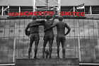 Old Trafford Manchester United Trinity Red letters MUFC Canvas Picture Wall Art