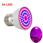 54 LED Plant Grow Light E27 Lamps for Plants Flower Vegs Seed Greenhouse Hydro