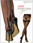 Gio Fully Fashioned Stockings - BLACK Susan Heel - Imperfects