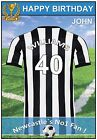 Newcastle Inspired Football Birthday Cards (2 Designs) - Personalised