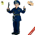 Kids Cool Police Officer Costumes Boys Policeman&Cop&Patrol Man Cosplay Outfits