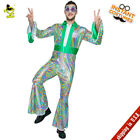Adult 70s Disco Hippie Costume Men's Retro Rock Hippie Cospl