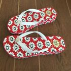 NEW TORY WEDGE BURCH Women flip flop Sandals White Primrose Wedge, red sole LOGO