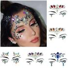 Temporary Tattoo Glitter Resin Rhinestone Festival Party Face Jewels Sticker Art
