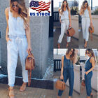 Women Casual Loose Denim Jeans Pants Overalls Straps Jumpsui