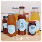 100 x Personalised Jam HONEY Labels sticky STICKERS ROUND CIRCLE jars produce
