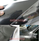 Select Car Glossy 5D Carbon Fiber Mirror Vinyl Wrap Sticker Sheet Film Black AC