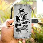 Horse My Heart Paved with Hoof Prints Phone Case Wallet