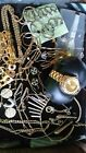 Huge Lot of 27 Vintage Jewelry - gold & siler tone and rhinestones - #204