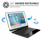 """7 Colors Backlit Keyboard Rotating Case Cover For iPad 6th Generation 9.7"""" 2018"""