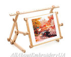 Needlework Adjustable Bed Table Stand Wooden Embroidery Cross Stitch Scroll Fram
