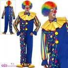 Mens Deluxe Clown Costume Adult Circus Halloween Novelty Big Top Fun Fancy Dress