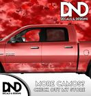 Camo Chameleon Bright Red Rocker Panel Wrap Decal Kit Truck Camouflage DA57RP