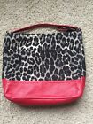 Coach Handbag Animal Print/Red Leather