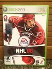 X BOX 360 Live NHL 08-Includes Case, Disc & Instructions-in Very Good Condition
