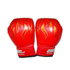 Children Kids FIRE Boxing Gloves Sparring Punching Fight Training Age 3-12 RS