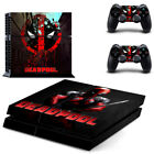 PS4 Deadpool Marvel Skin Vinyl Sticker for Playsation 4 Console 2 Controllers