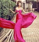 Brocade Womens One Shoulder Slim Ball Gown Prom Wedding Dress Maxi Lace Up S714