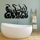 Vinyl Wall Decal Kraken Octopus Ship Tentacles Nautical Bath