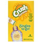 CRUSH PINEAPPLE Singles to Go! Sugar Free Drink Mix 6 Packets Per Box- (6 Boxes)
