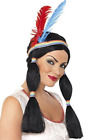 Native American Inspired Princess Wig, Black, Long with Bunc (US IMPORT)  AC NEW