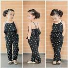 Toddler Infant Kids Baby Girls Dot Straps Rompers Jumpsuits Piece Pants Clothes