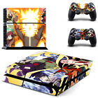 Naruto Sasuke PS4 Skin Vinyl Sticker Decal Playsation 4 Console 2 Controller Set