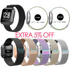 Magnetic Milanese Loop Wrist Band Strap for Fitbit Versa Watch Stainless Steel