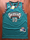 NBA Vancouver Grizzlies Mike Bibby Hardwood Classics Sewn Stitched Teal Jersey