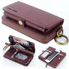 2017 Luxury Zipper Multifunction Flip Leather Wallet Case Cover For HTC Models