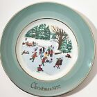 Christmas Plate Series 4th Edition Skaters On the Pond Avon 1976 Enoch Wedgewood