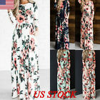 Women Floral Holiday Long Dress Ladies Summer Maxi Dresses Casual Midi Plus Size