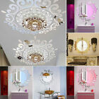 3d Feather Mirror Wall Sticker Room Decal Mural Art Diy Home Decoration Ky