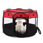 8-side Foldable Oxford Cloth Pet Tent Dog House Cage Dog Cat Tent Puppy Kennel