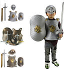 Kids Boys Medieval Knight Armour Sword Shield Fancy Dress World Book Day Costume