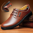 LOT 2018 Mens Casual Genuine Leather Shoes Gift Slip on Black Shoes