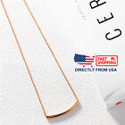 Women's Rose Gold Plated Stainless Steel Simple Curved Bar Necklace image