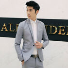 New Mens Casual Slim Fit One Button Suit Blazer Business Coat Jacket With Pocket