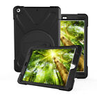 Shockproof Rotating Stand with Screen Protector Armor Case Cover For Apple iPad