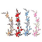 "Choose Color PLUM FLOWER BLOSSOM iron on applique patch (16"" x 5"")"